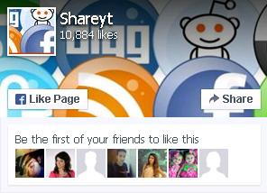 Join Shareyt fanpage on facebook