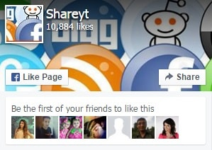 Like and share Shareyt facebook fanpage
